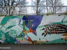 Foto tunneltje Rielsedijk Goirle, muurschildering Vincent Huibers, fotograaf Hennie Brok